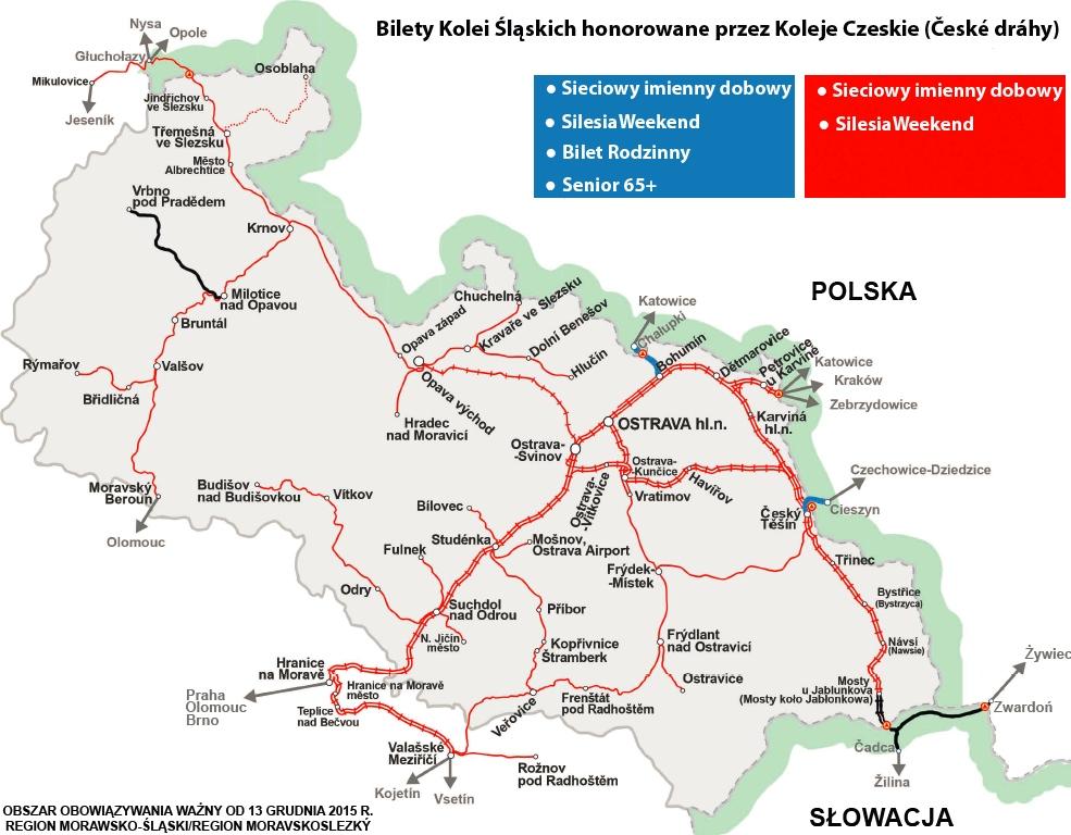 Mapa - Czechy
